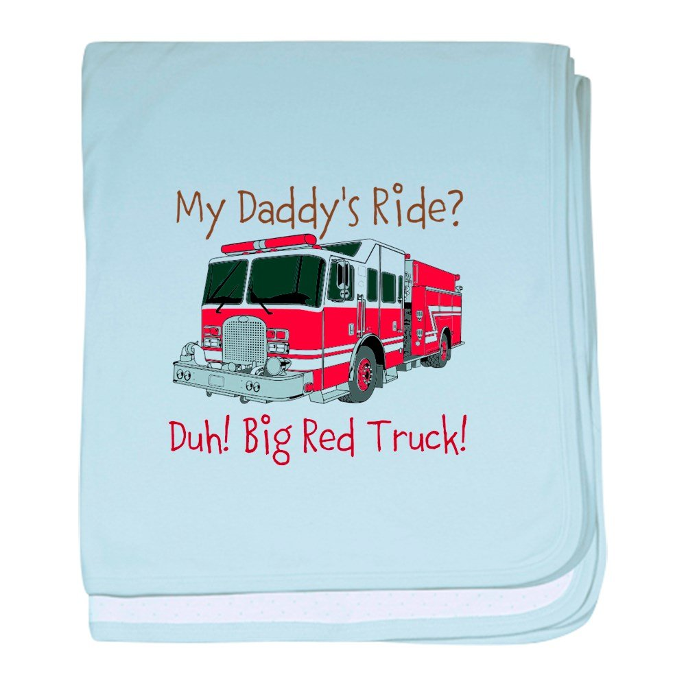 CafePress – Funny Daddy 's Ride Fireman – スーパーソフトベビー毛布、新生児おくるみ ブルー 068678372325CD2  スカイブルー B00OZ3FE4U