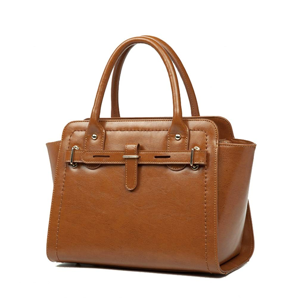 ファッションショルダーバッグレディースとレディースバッグハンドバッグメッセンジャーバッグ (色 : Brown) B07MZ4THP6 Brown