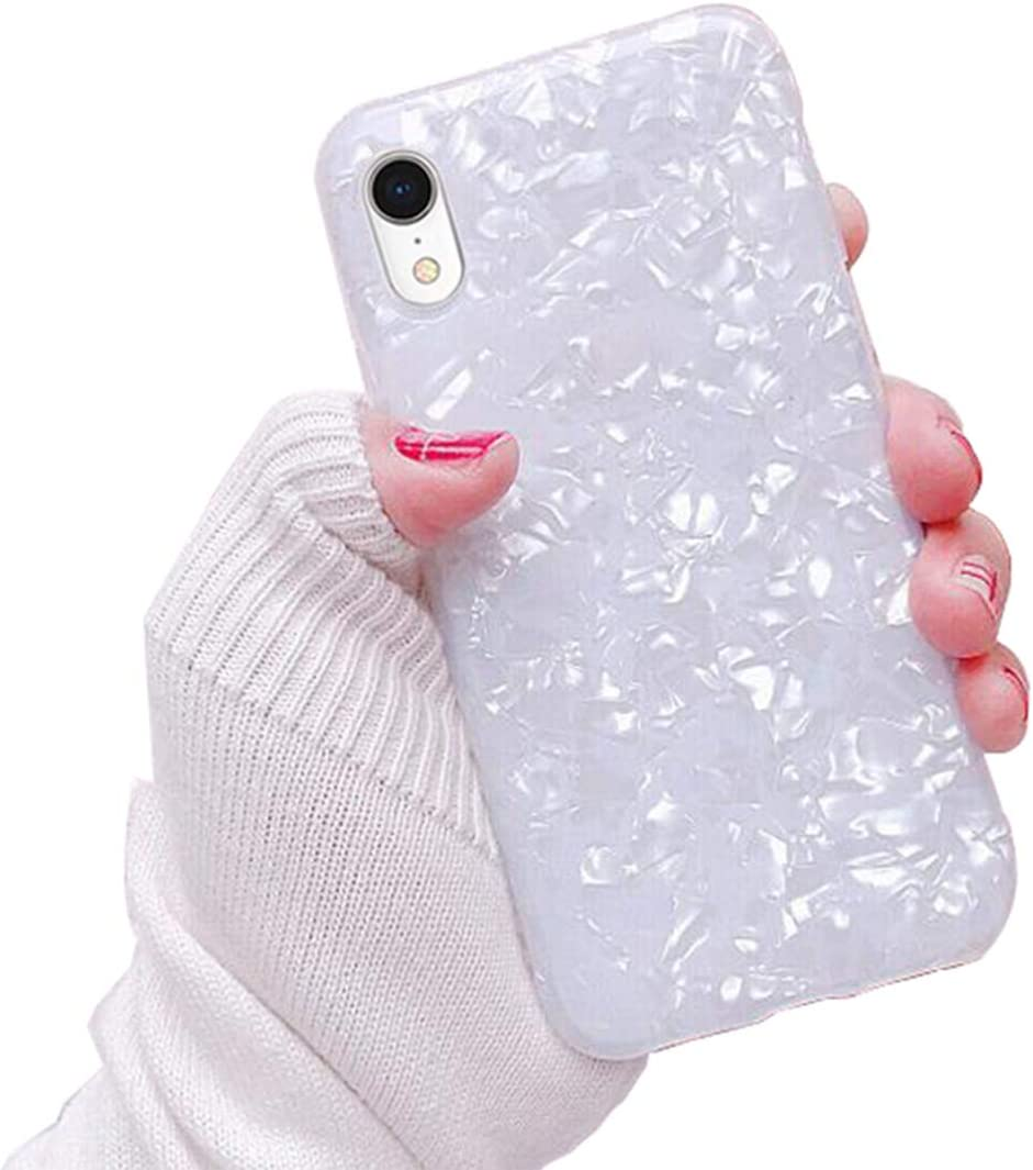 KUMTZO Compatible for iPhone XR case,Cute Girls Women Sparkling Shiny Soft TPU Silicone Back Cover for iPhone XR 6.1 inch (2018 Release)_White