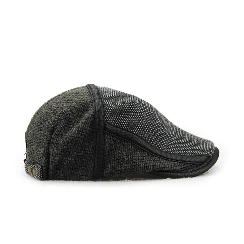 Anshili Mens Adjustable Winter Knitted Hat Beret