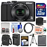 Nikon Coolpix S9900 Wi-Fi GPS Digital Camera (Black) with 32GB Card + Case + Battery & Charger + Tripod + Kit