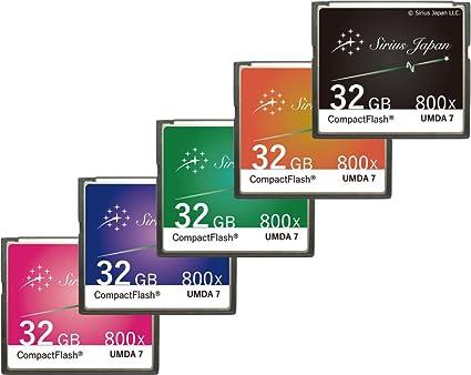 Sirius CF tarjeta 32 GB (Sirius Japón Tarjeta Compact Flash ...