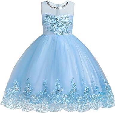 Girl/'s Flower Girls Tutu Fairy Princess Dress Green Wedding Party 3-12Y