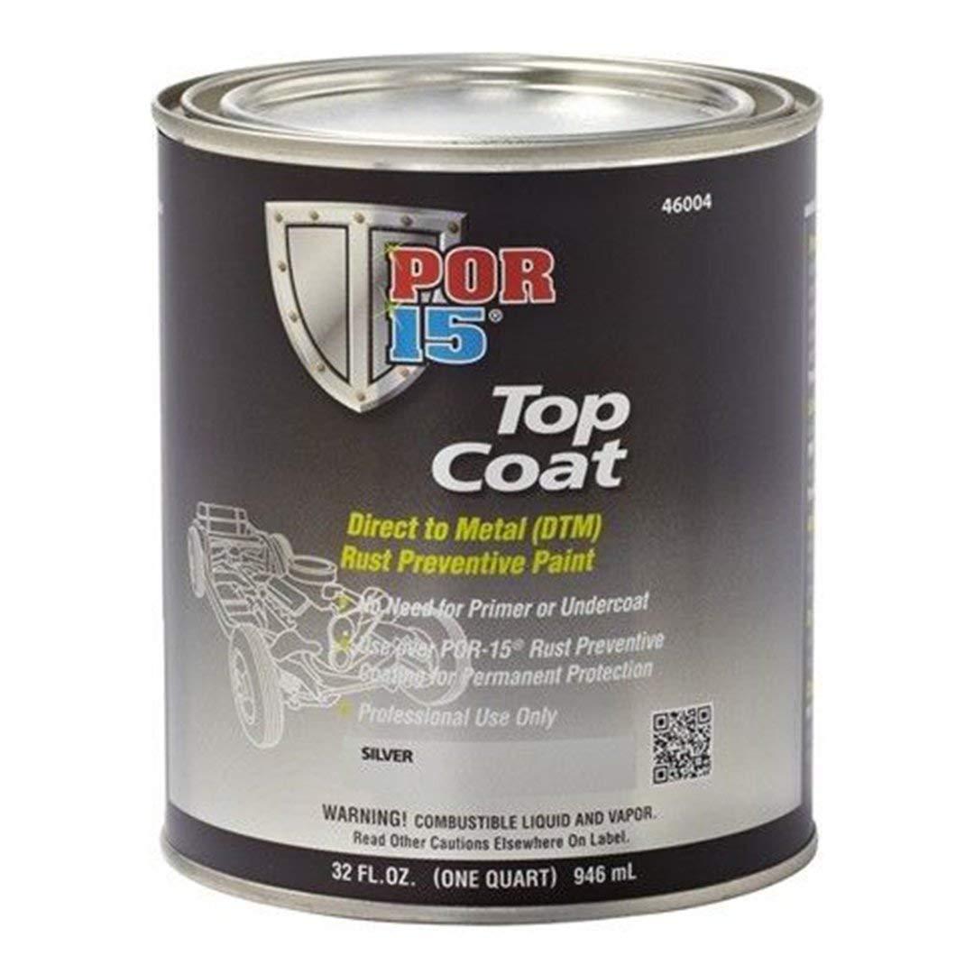 POR-15 POR 15 46004 Stirling Silver Top Coat - Top Coat over Quart