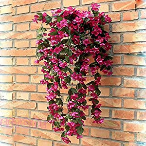 Techinal Artificial Violets Flowers, Hanging Garland Flowers Fake Violet Home Wedding Decor Vine Flowers ( Hot Pink ) 72