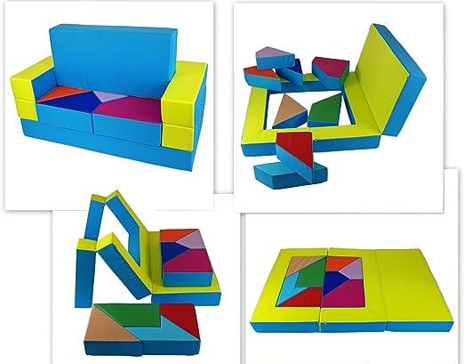 Kg04b spielsofa 4in1 spielmatraze Kindersofa Puzzle kinderzimmersofa softsofa