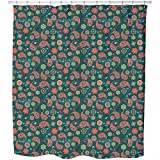 Uneekee Party Fun With Paisleys Shower Curtain: Large Waterproof Luxurious Bathroom Design Woven Fabric