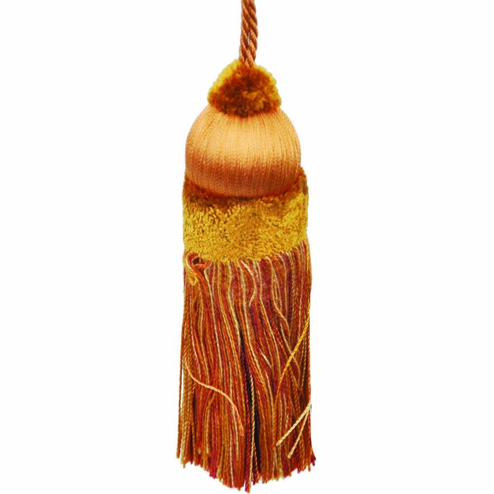 41/2'' Key Tassel with a 4-Inch Cord, Burnt Orange by 41/2'' Key Tassel
