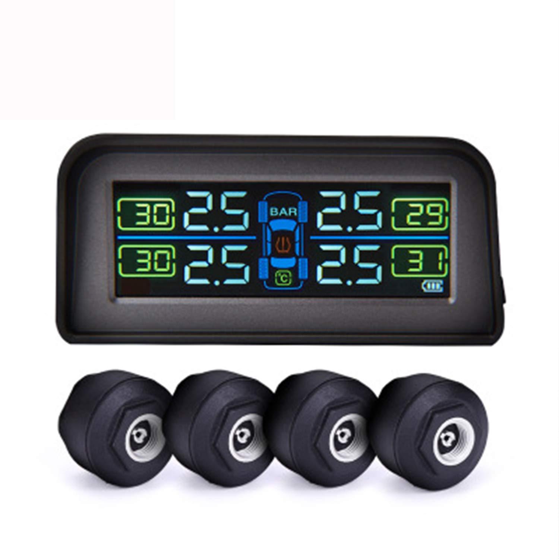 HEIFEN Solar And USB Power Supply Mode Automotive Tire Pressure Monitor TPMS External Configuration 4 Sensors