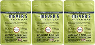 product image for Mrs. Meyer's Clean Day Automatic Dishwasher Pods, Cruelty Free Formula Dish Soap Tablets, Lemon Verbena Scent, 20 Count - Pack of 3 (60 Total Pods)