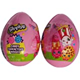 Shopkins Plastic Easter Eggs with Candy Characters - Set of 2 Medium Sized Eggs