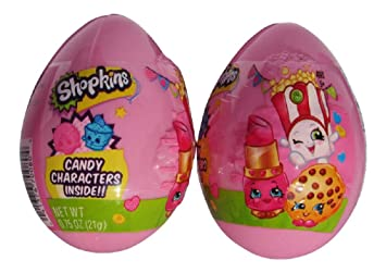 Shopkins Plastic Easter Eggs With Candy Characters