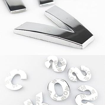 4CM SILVER METAL CHROME 3D LOGO ALPHABET LETTERS DECAL STICKER FOR SUZUKI VITARA
