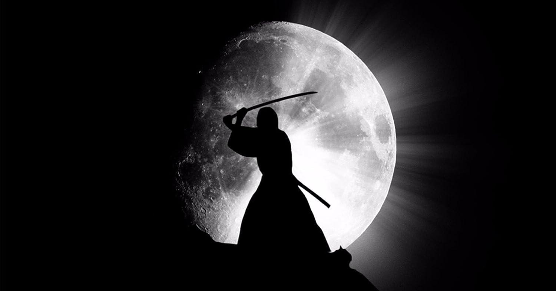 Amazon.com: bribase shop Japanese Samurai Ninja Giant Moon ...