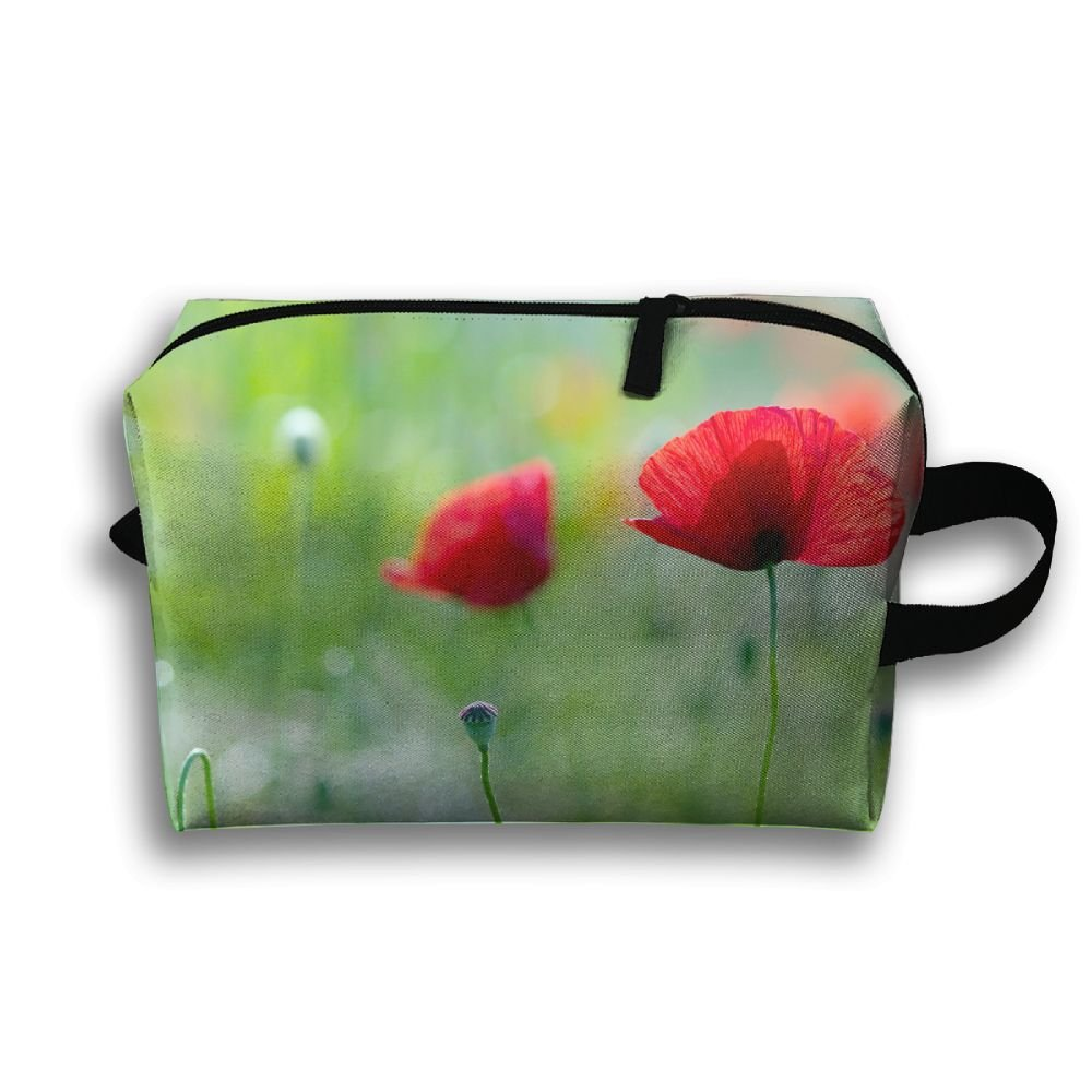 Pengyong summer red flowers plant small travel toiletry bag super pengyong summer red flowers plant small travel toiletry bag super light toiletry organizer for overnight trip izmirmasajfo