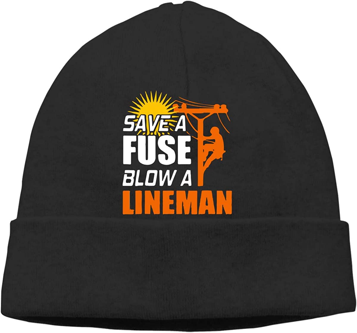 GDSG5/&4 Save A Fuse Blow A Lineman Unisex Daily Slouchy Sports Beanie Hat