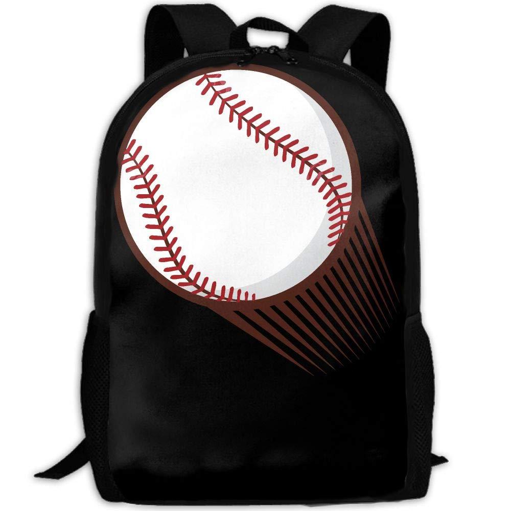 OIlXKV Baseball Print Custom Casual School Bag Backpack Multipurpose Travel Daypack For Adult
