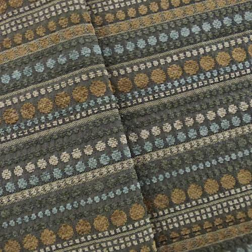 Blue/Brown Dotted Stripe Chenille Home Decorating Fabric, Fabric by The Yard