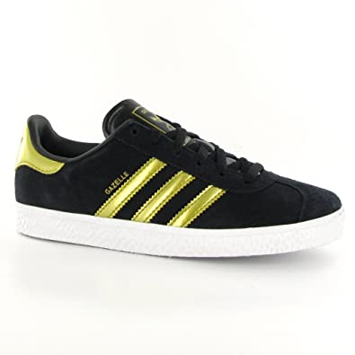 black adidas gazelle trainers boys