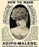 1895 Advert Adipo-Malene L. E. Marsh Bust Breast