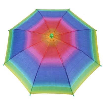 GLOGLOW Sombrero Plegable al Aire Libre del Paraguas de Sol de 3 Colores, Sombreros Principales