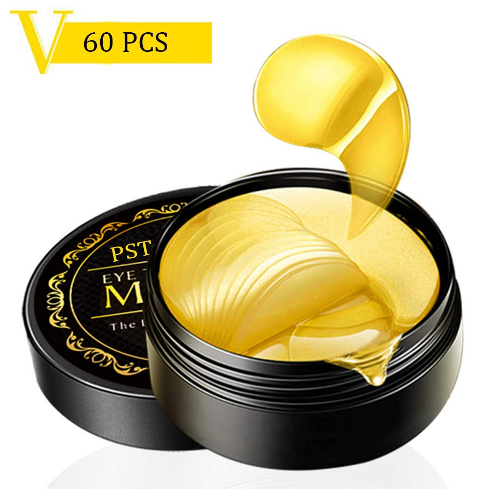 POSTA 24k Gold Eye Mask, 60 PCS Eye Treatment Mask With Collagen, Under Eye Mask Treatment for Puffy Eyes, Dark Circles Corrector, Used for Eye Bags, Anti Aging Patches Luxury Gift for Women and Men