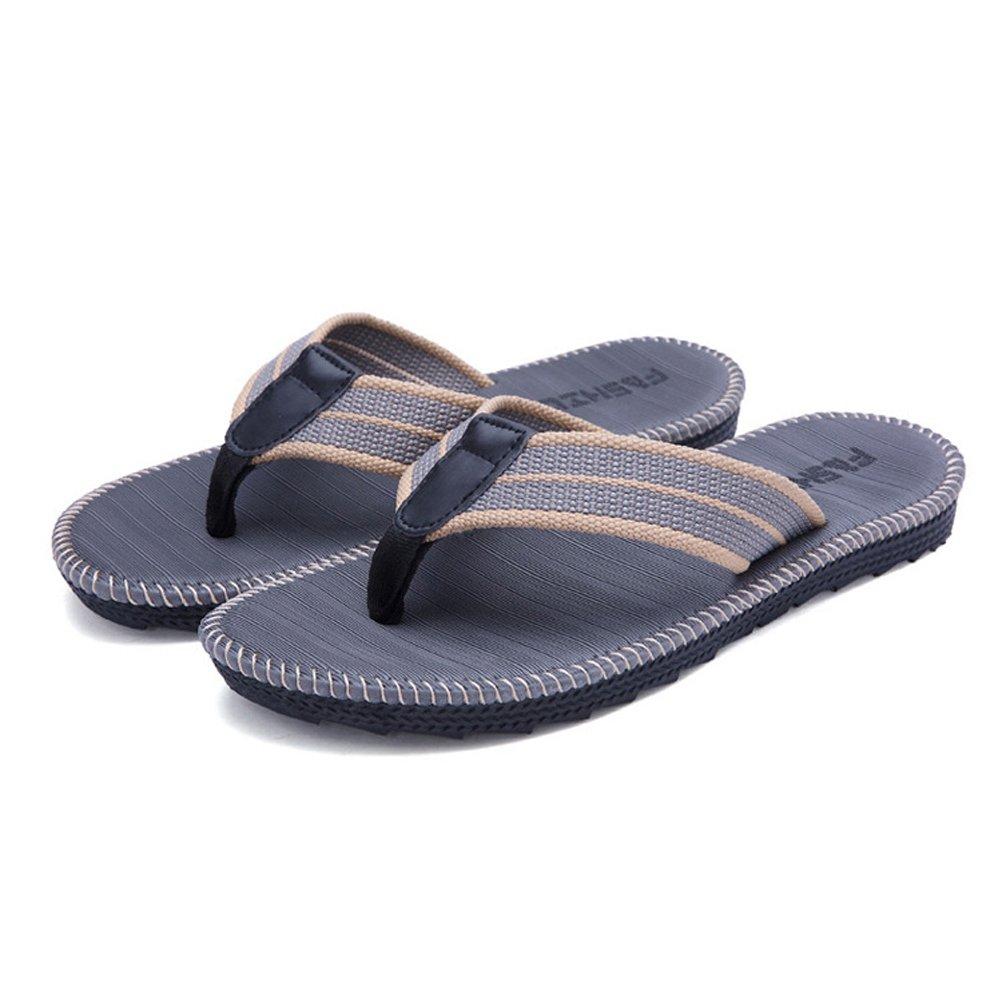 AODEW Men's Beach Slippers Anti-Slip Flip-Flop Slippers Thong Sandals Clip Toe Slippers