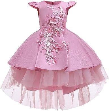 Obtai New Flower Little Girl Princess Tulle Dress Skirt Frilly Flower Dance Tutu Prom Robe Ball Gown Long