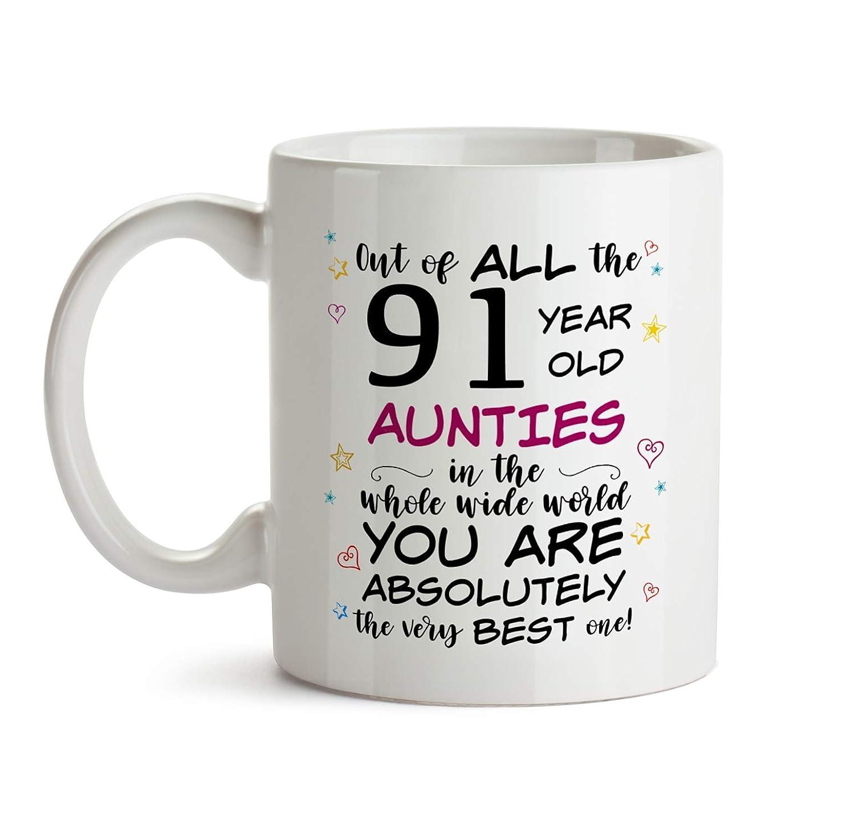 91st Auntie Birthday Gift Mug