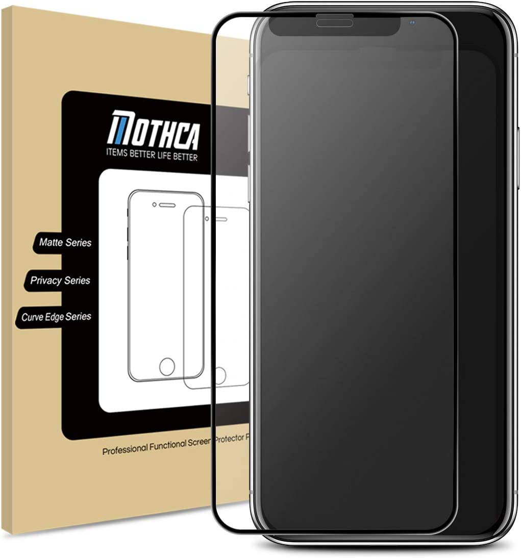 Mothca Matte Screen Protector for iPhone 11 Pro Max/iPhone Xs Max Anti-Glare & Anti-Fingerprint Tempered Glass Clear Film Full Screen Case Friendly Easy Install Bubble Free - Smooth as Silk