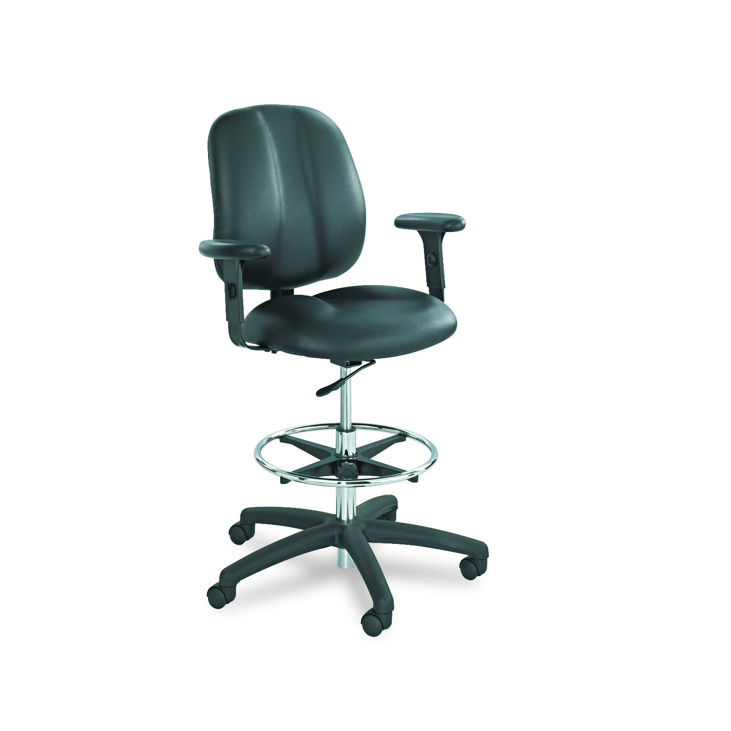 Safco Products 6689BL Adjustable T-Pad Arm Set for use with Apprentice II Extended Height Chair, sold separately, Black by Safco