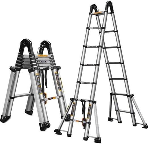 BAOFI Escalera telescópica Plegable Aluminio portátiles telescópicas Multiusos Escalera de ingeniería Profesional para el hogar y la Cocina Multiusos Portátil Fuerte y Resistente,A,3.3M: Amazon.es: Hogar