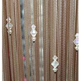 "Paker Crystal Beaded Curtains Hanging Door Beads String Room Dividers Tassel (39.37"" x 78.74'', 1 piece)"