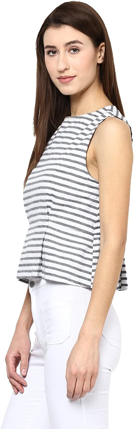 SCARLET ROSS Striped crop top for girls and womens