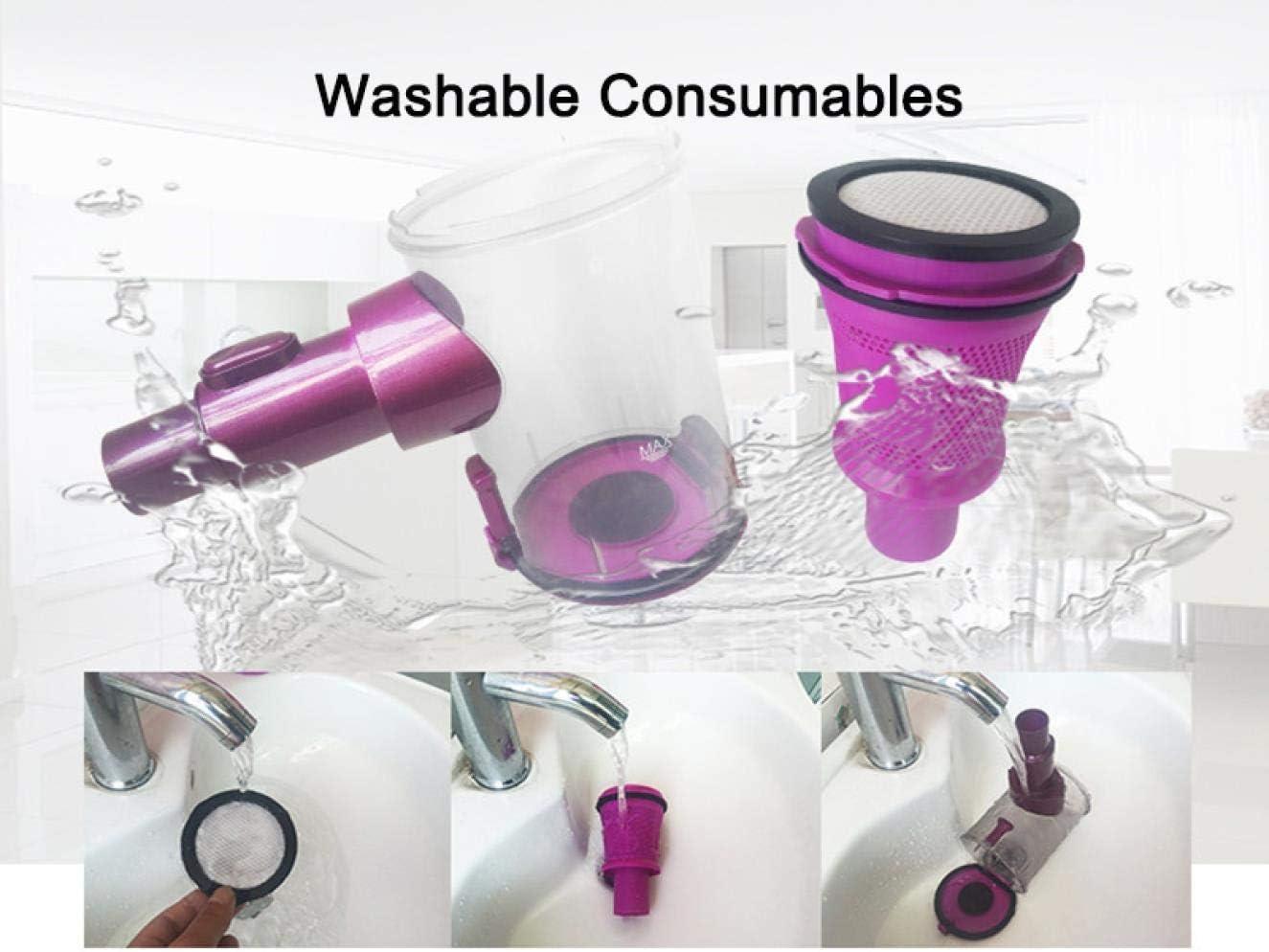 Lsmaa Ultra Quiet Mini Accueil Rod Aspirateur Portable collecteur de poussière Accueil Aspirateur à Main Aspirateur Violet (Color : Purple) Purple