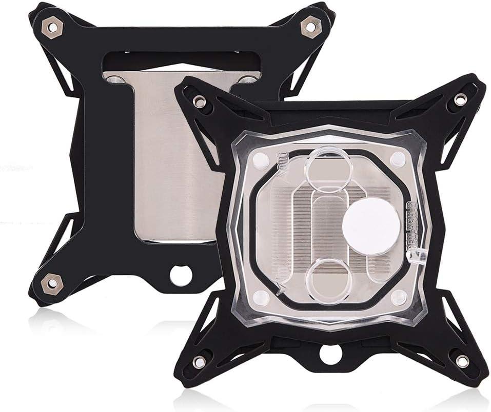 2011 Denash CPU Water Cooling Block 0,3 mm Mini-Universal-CPU-Wasserblock mit LED-Licht f/ür Intel 775 115x