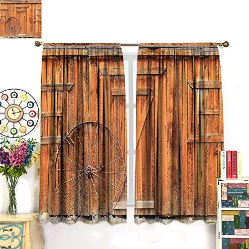 Western Blackout Curtain Ancient West Rural Town Rustic for sale  Delivered anywhere in USA