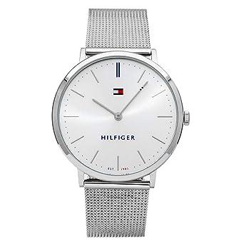 verkauf usa online Original wählen vollständig in den Spezifikationen Tommy Hilfiger Unisex Erwachsene Analog Quarz Uhr mit Edelstahl Armband  1781690