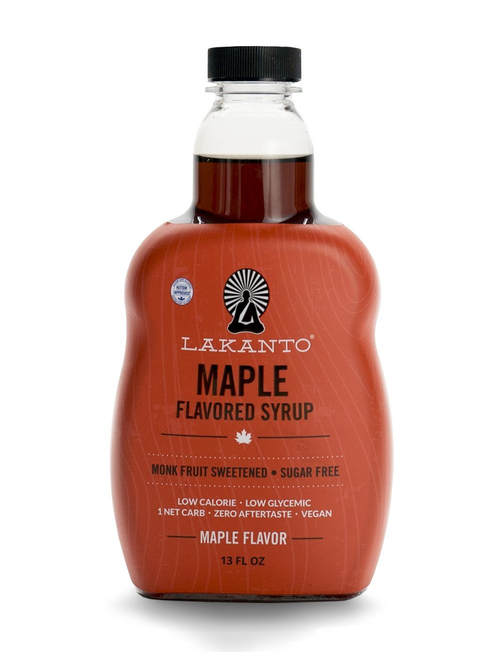 Lakanto Maple Flavored Sugar-Free Syrup, 1 Net Carb (Maple Syrup, 13 oz)