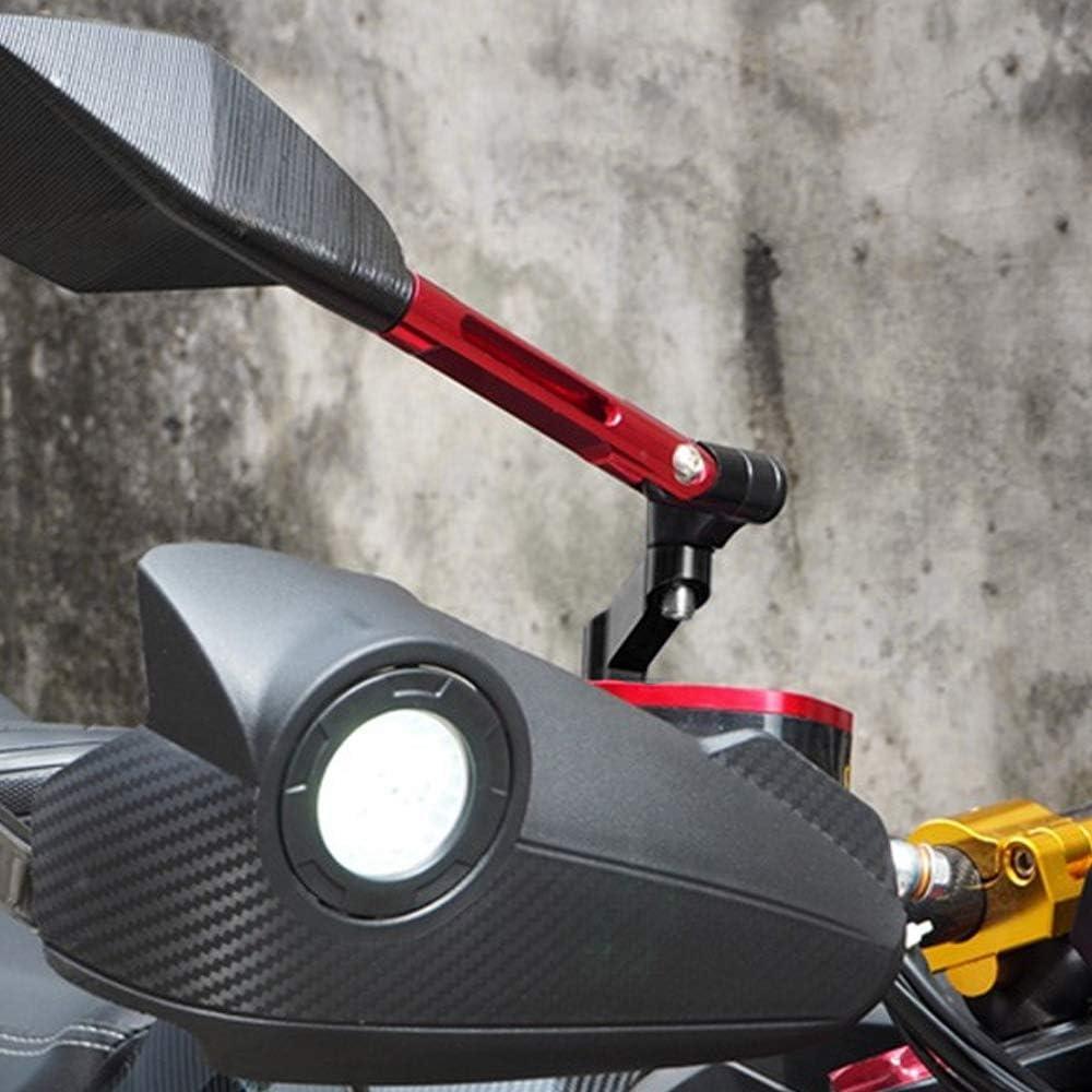 Queiting Pair of 10mm M10 Motorcycle Mirror Riser Extender Adaptors for Motorbike Bike