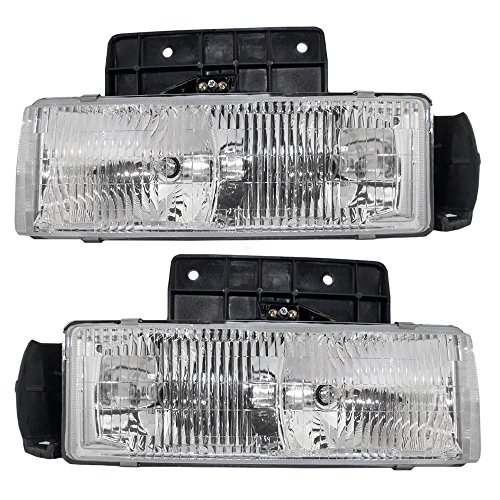 Driver and Passenger Composite Headlights Headlamps Replacement for Chevrolet GMC Van 16524091 16518494 - Astro Chevrolet Headlight