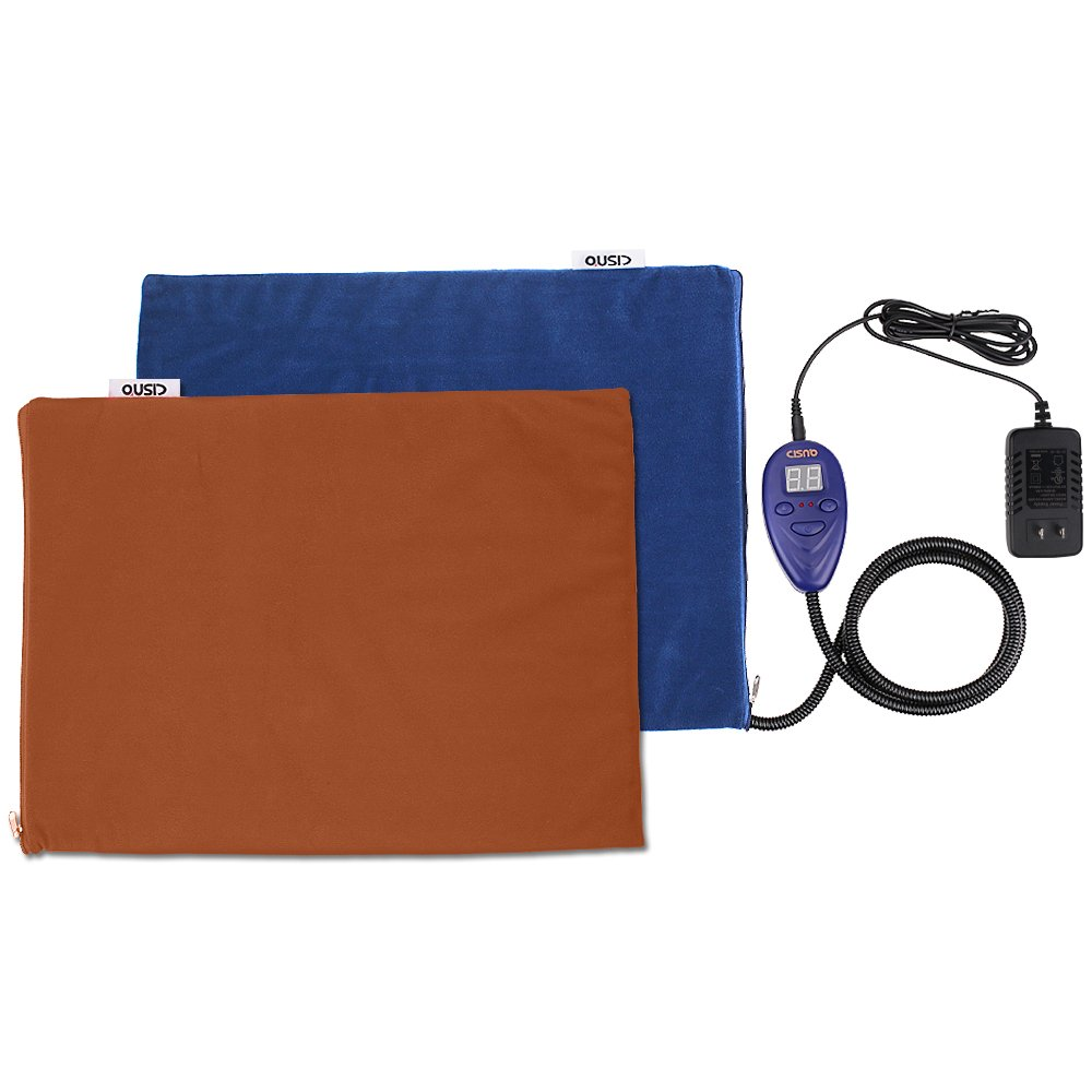 Pet Heating Pad, Dog Cat Safety Electric Bed Mats, Indoor Waterproof Adjustable Warming Pad Mat