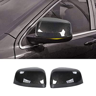 JeCar Side Mirrors Cover Carbon Fiber ABS Rearview Mirrors Trim for 2011-2020 Jeep Grand Cherokee: Automotive