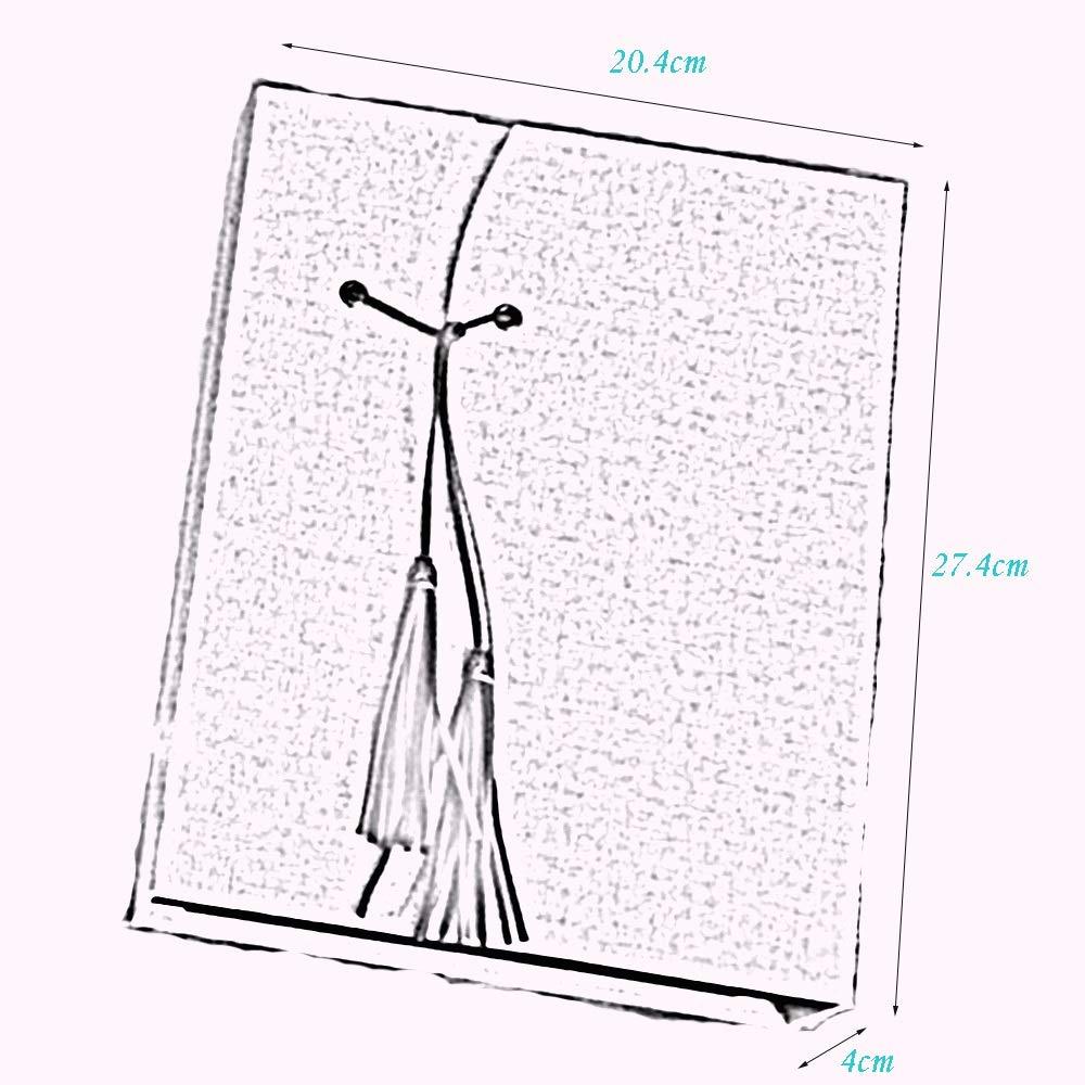 ZZHF xiangche Álbum de Fotos, Retro Pegado Papery Retro Fotos, Literario Álbum Manual Colgante Decoración de Moda Pareja Libro conmemorativo Crecimiento del bebé Álbum de Fotos Album 6fa873