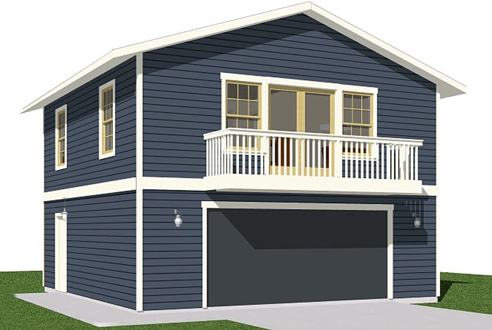 Amazon Com Garage Plans 2 Car With Full Second Story 1307 1bapt 26 X 26 Two Car By Behm Design Home Kitchen,2400 Sq Ft Duplex House Plans India