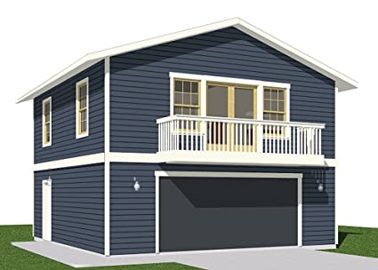 Amazon Garage Plans 2 Car With Full Second Story 13071bapt – 26 X 26 Garage Plans