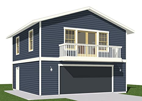 Garage Plans 2 Car With Full Second Story 1307 1bapt 26 X 26 Two Car By Behm Design