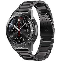 Becoler Pulsera de Pulsera de Repuesto de Correa de Reloj de Pulsera de Acero Inoxidable Genuino para Samsung Gear S3 Classic/Frontier