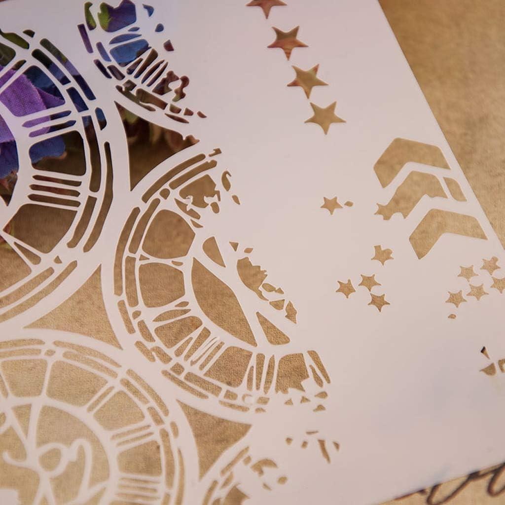 f/ür Album Karte Haven Shop Bastel-Schablone Scrapbooking Malerei Bastelartikel Schablone im Rad-Design Pr/ägung Stempeln
