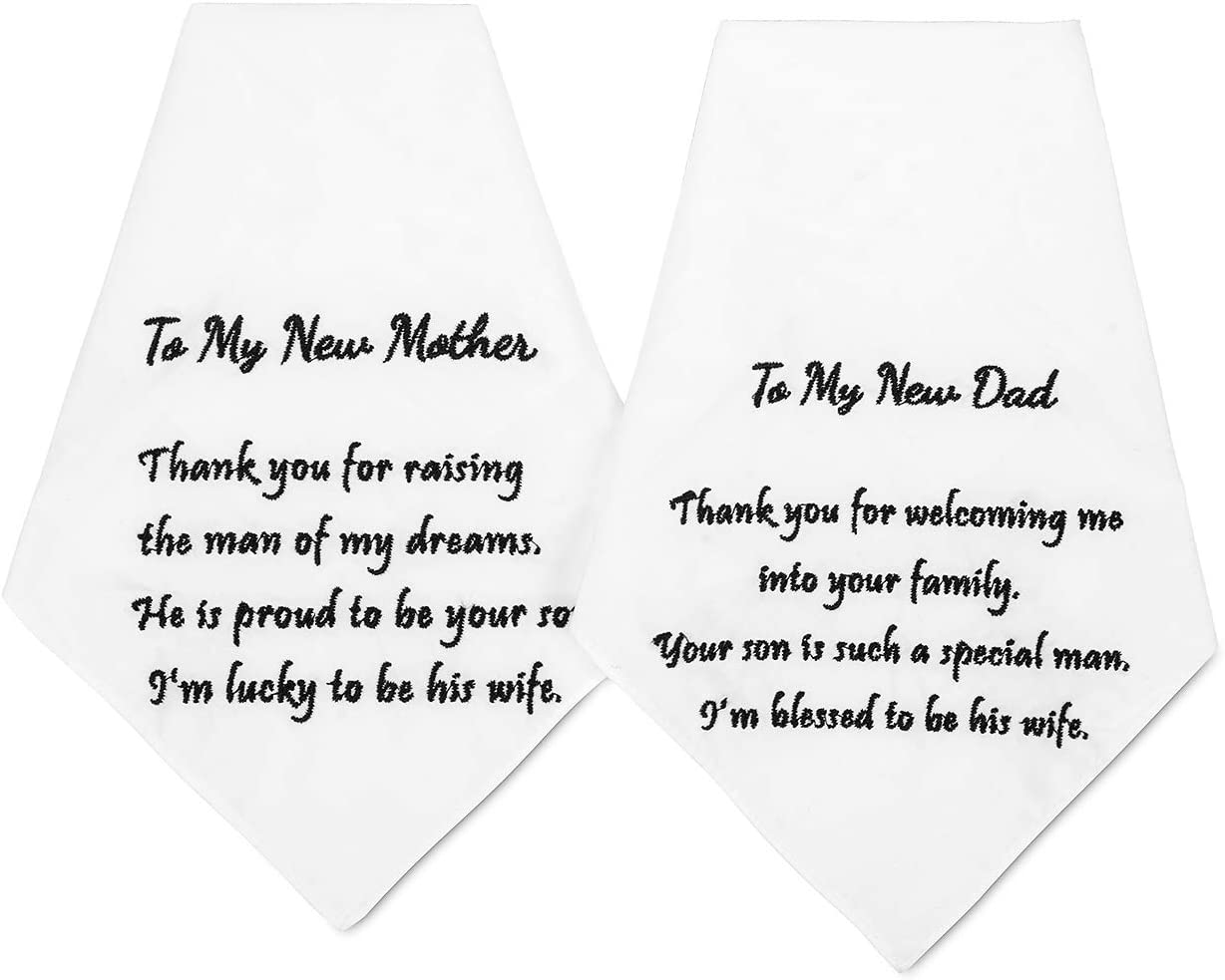Hanky Handkerchief Hankie- Thank you for Raising your son to be the Man of my dreams -Hankerchief Wedding gift for Mother of the Groom